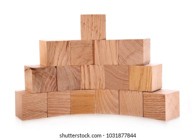 Wooden cubes made of oak