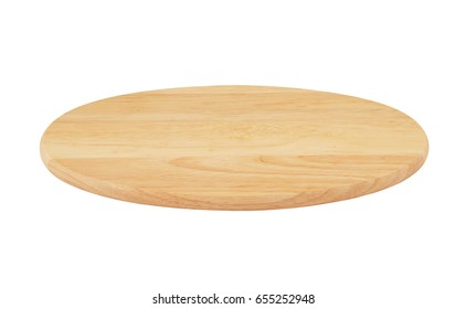 Wooden cutting board isolated on white.