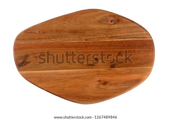 Wooden cutting board for the kitchen isolated on white.