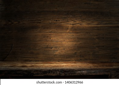 Wooden dark background of free space for your decoration.