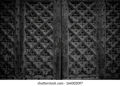 Wooden decorated wall