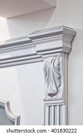 Wooden decorative capitals and molding for doors