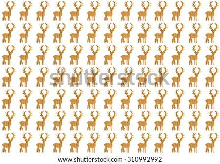 Wooden Deer Pattern Background Stock Photo Edit Now 310992992