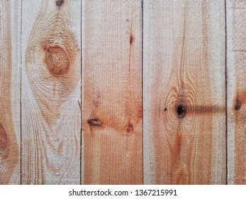 Wooden design, pine material after processing in a sawmill