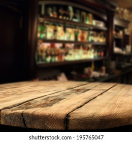 wooden desk and bar