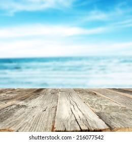 wooden desk of summer