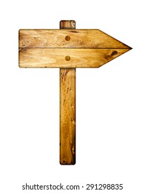 Wooden direction sign.