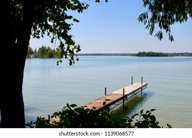 Wooden Dock on Water