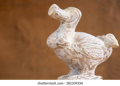 Wooden Dodo bird - typical souvenir from Mauritius island. Dodo is an extinct flightless bird that was endemic to the island of Mauritius.