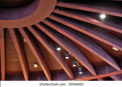 wooden dome roof