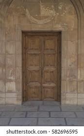 wooden door al hambra spain andalusia