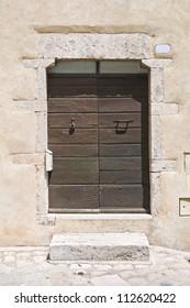Wooden door. Amelia. Umbria. Italy.