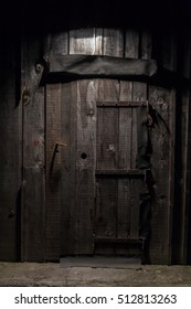 Wooden door, background