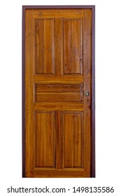Wooden door with boarder vintage style