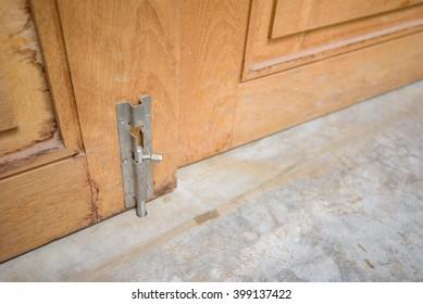 wooden door bolts