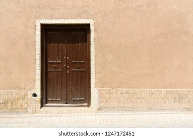 wooden door, an entrance to the residential house