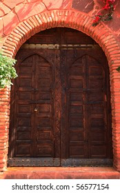Wooden Door in Morocco