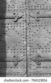 Wooden door of a old Church ( Perugia, Italy )