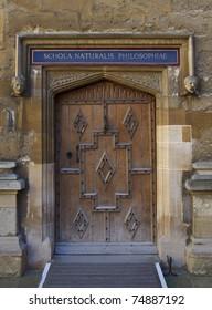 Wooden door, Oxford