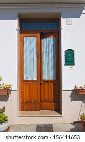Wooden door. Pisticci. Basilicata. Italy.