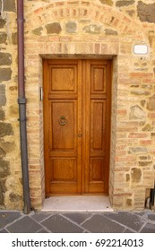 Wooden door with two sashes