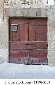 Wooden door. Vitorchiano. Lazio. Italy.