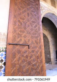 Wooden doors of the Alhambra palace