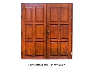 Wooden Doors in Thai Temple
