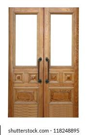 Wood Double Doors Images, Stock Photos & Vectors | Shutterstock on