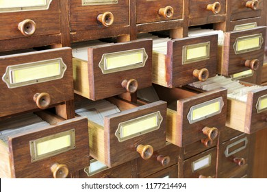 Wooden drawers for archives documents files and folders