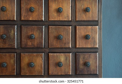 Wooden Drawers background