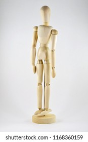 Wooden drawing model mannequin to help show poses for artists