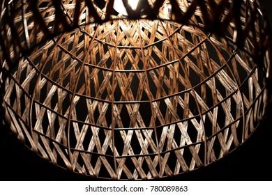 Wooden droplight in bedroom
