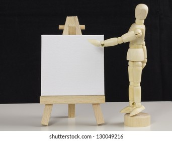 Wooden Easel with Mannequin Teacher