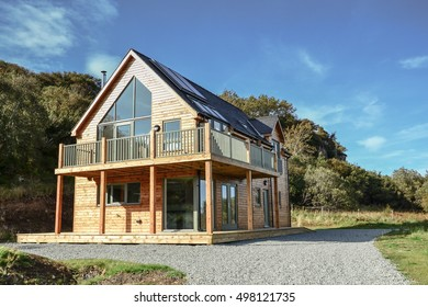 Wooden eco house
