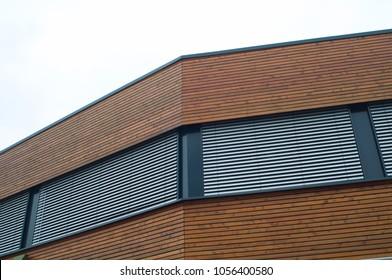 wooden facade office building