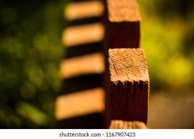 wooden fence Board Reiki stick
