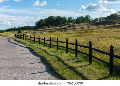 Wooden fence in gamla Uppsala, ancient site, swedish countryside