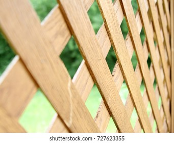 Wooden fence horizontal
