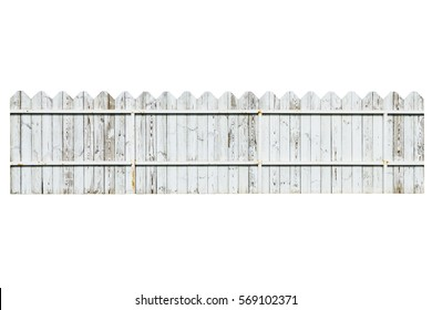 wooden fence isolate on the white background