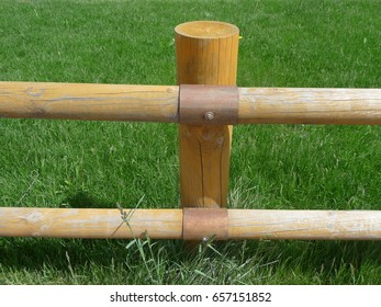 A wooden fence of the race field