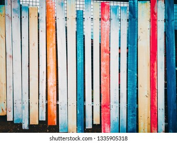 wooden fence in saturated colors - background-backdrop concept