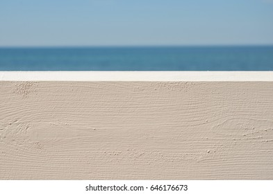 Wooden fence and sea