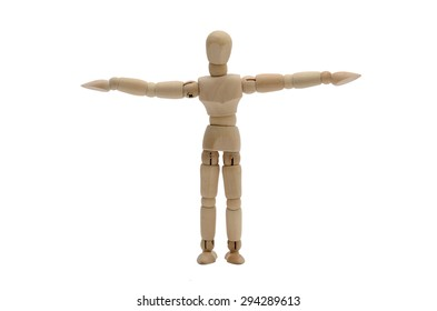 Wooden figure stretch the arms (Standard - Front)