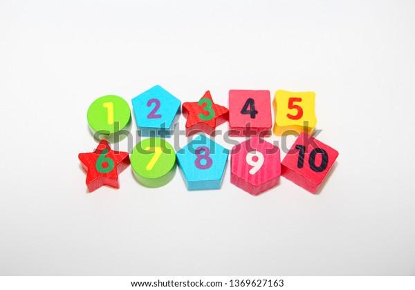 Wooden Figures Numbers 1 2 3 Stock Photo Edit Now 1369627163