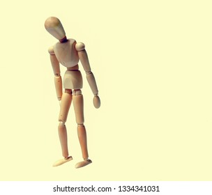 wooden figurine standing depressed or fired