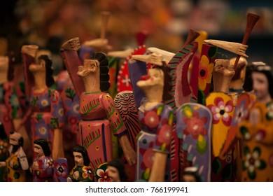 Wooden figurines, decorative figurines, Guatemalan crafts,