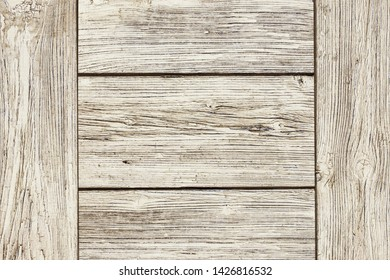 Wooden flat box texture. Natural weathered board made with desks.