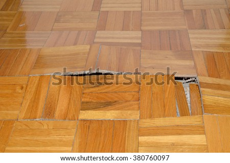 Wooden Floor Apartment Floor Damaged By Stock Photo Edit Now