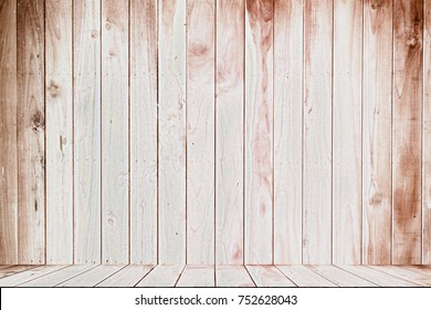 Wooden floor And wooden back